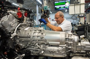 Dave Green works on a Bentayga engine
