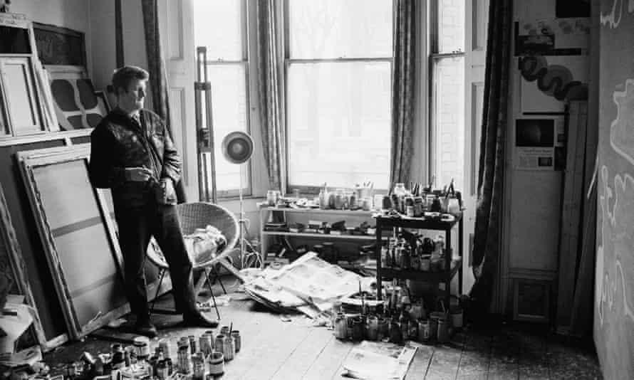 John Hoyland in his studio in 1965.