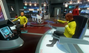 In Star Trek: Bridge Crew, players get to use the Rift and Vive motion controllers to make frantic arm gestures at each other during heated moments