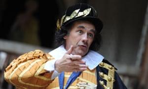 Mark Rylance as Richard III at the Globe theatre, London.