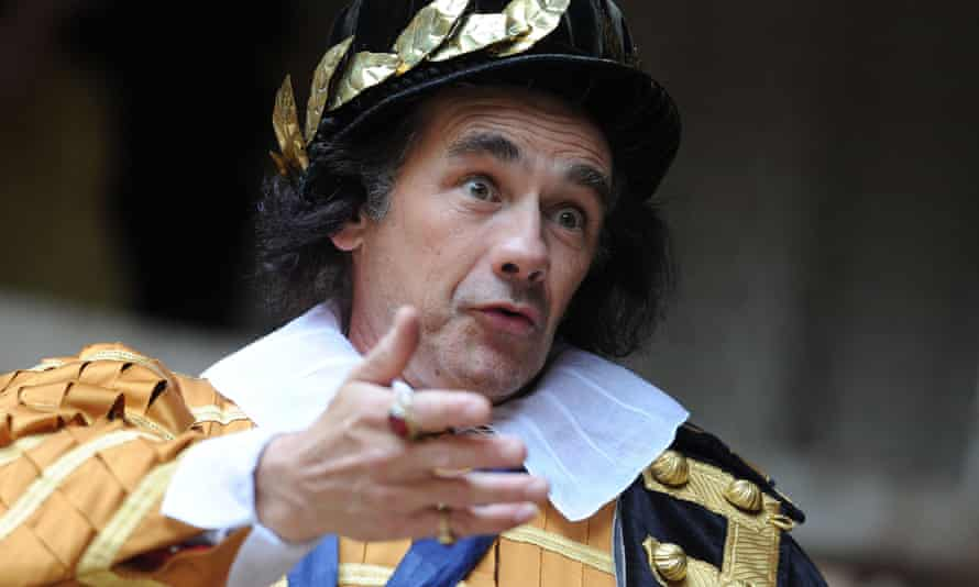 Mark Rylance playing Richard III at the Globe Theatre in London