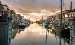 The historic Delfshaven in Rotterdam