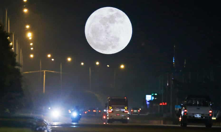 Possible explanations are that motorcyclists find the moon distracting, or that the light makes it difficult to judge speed.