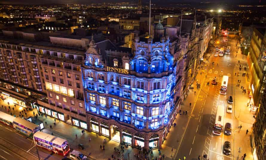 Jenners department store at its landmark position on Edinburgh's Princes Street, which it has occupied for more than 180 years.