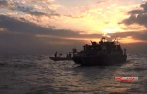 The sailors' two small navy craft had briefly gone missing on Tuesday while crossing the Gulf from Kuwait to Bahrain