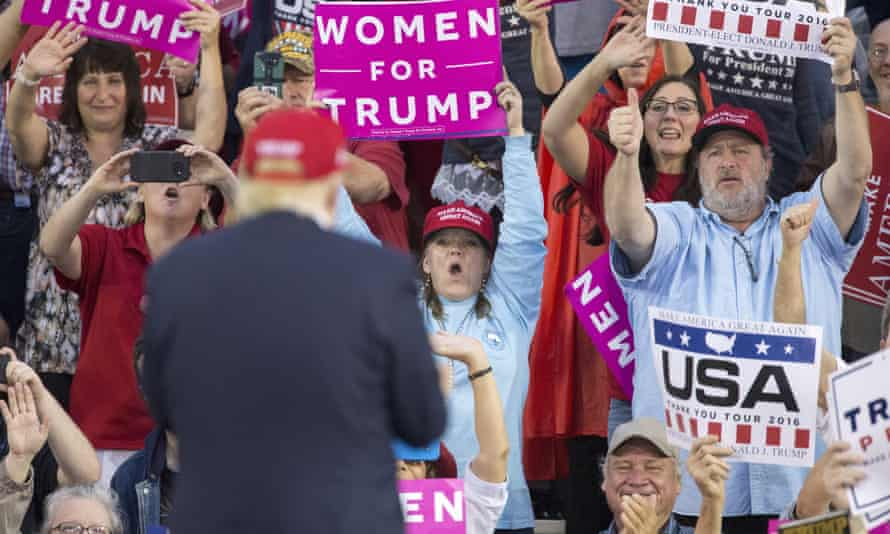 Trump supporters at a thank you rally in Alabama last month