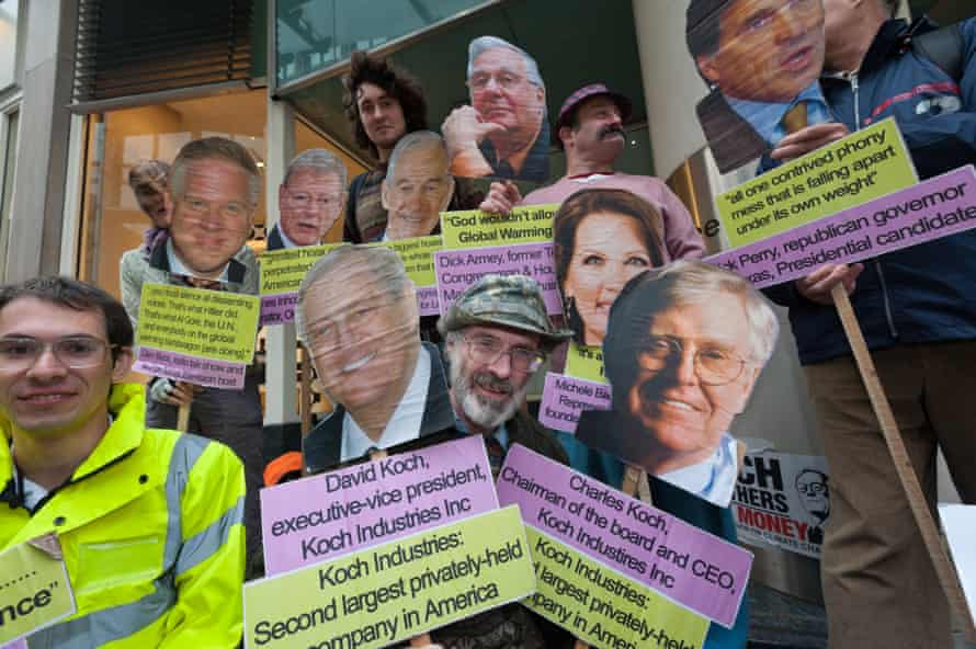 The Campaign against Climate Change protest outside the London offices of leading climate change deniers
