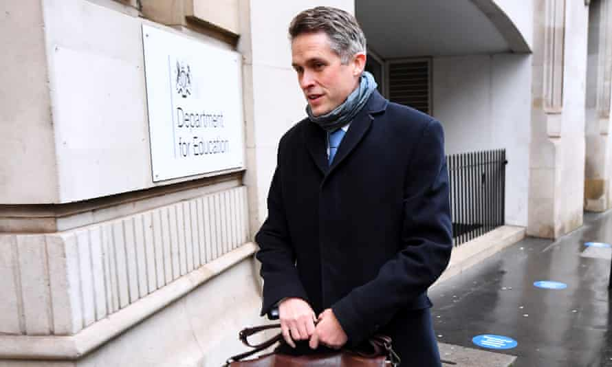 Gavin Williamson, secretary of state for education, arrives at the Department of Education.