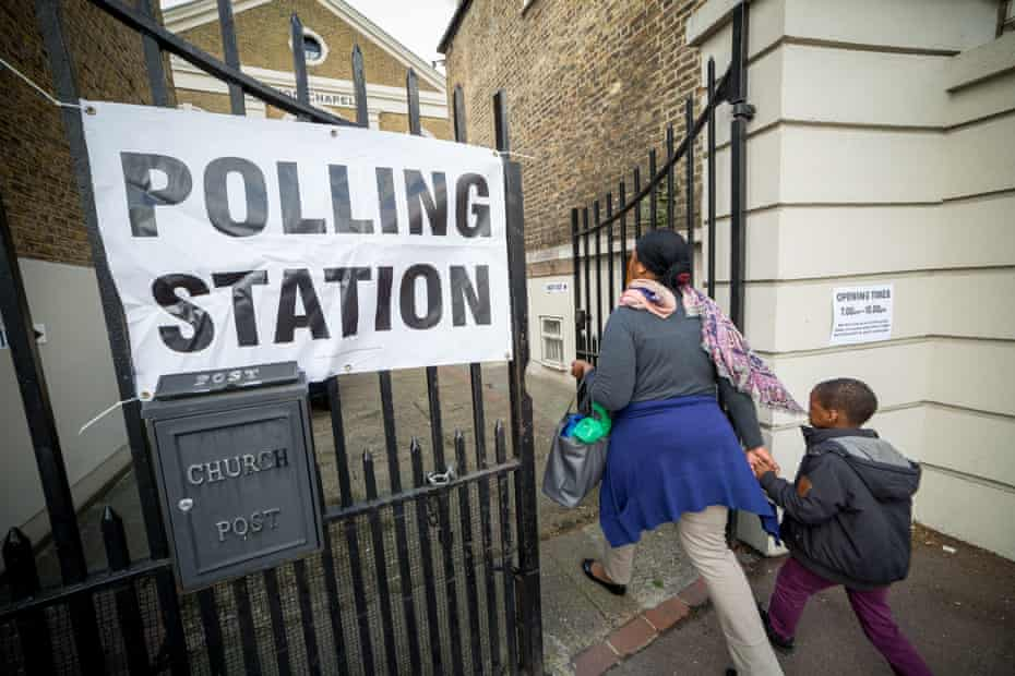 Polling station in Lewisham, London