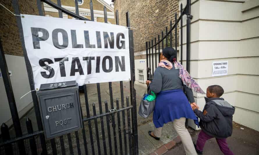 Voting in Lewisham, London.