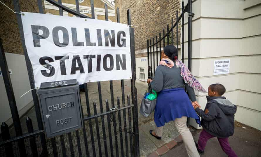 A polling station in Lewisham, London