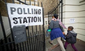 Polling station in New Cross, London