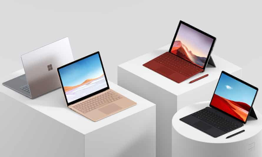The updated Surface Pro and Surface Laptop models.