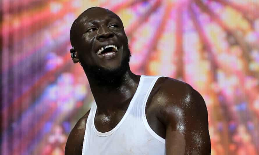 Stormzy performing at Capital's Jingle Bell Ball 2019.