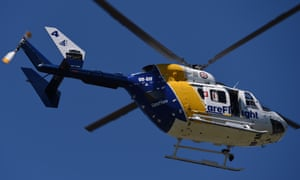 CareFlight says a man, 40, suffered multiple lacerations after being mauled by two dogs in the western Sydney suburb of Tregear