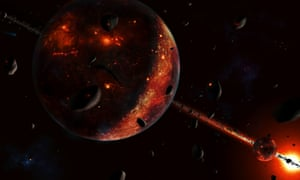 Until 3.8bn years ago, the Earth was pounded by asteroids and comets left over from the formation of the solar system.