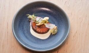 'Thick slices': nori-cured salmon.