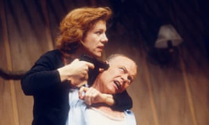 Juliet Stevenson and Michael Byrne in Death and the Maiden by Ariel Dorfman.