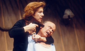 Juliet Stevenson and Michael Byrne in Death and The Maiden at the Royal Court in 1991