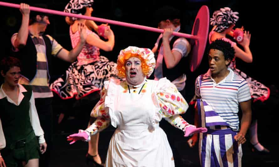A man who loved to play … Andy Gray as Dame Dolly Deluxe in Jack and the Beanstalk in 2007.