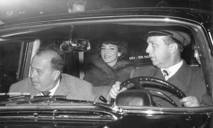 Heinz Hoffmeister, who recruited Rökk, seen here in a car with Maria Callas in 1959.