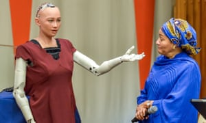 Sophia the robot at the UN in New York last year.