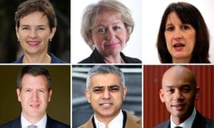 Mary Creagh, Rosie Winterton, Rachel Reeves, Chuka Umunna, Sadiq Khan, Chris Leslie identified as hostile to leader Jeremy Corbyn.
