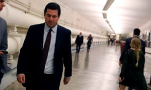 Devin Nunes talks with a reporter as he leaves the House floor on Capitol Hill in Washington DC on Wednesday.