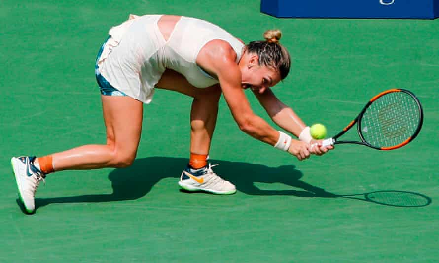 Simona Halep was out of sorts during her first-round defeat to Kaia Kanepi at the US Open.
