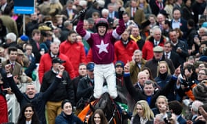 Bryan Cooper on Don Cossack celebrates winning the Cheltenham Gold Cup Chase