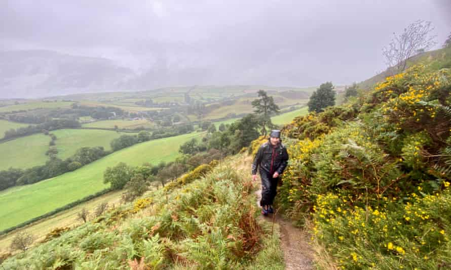 Rob Dingle on the Offa's Dyke Path near Knighton