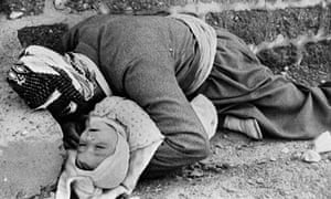 K man and his child killed in the chemical attack on Halabja in 1988.