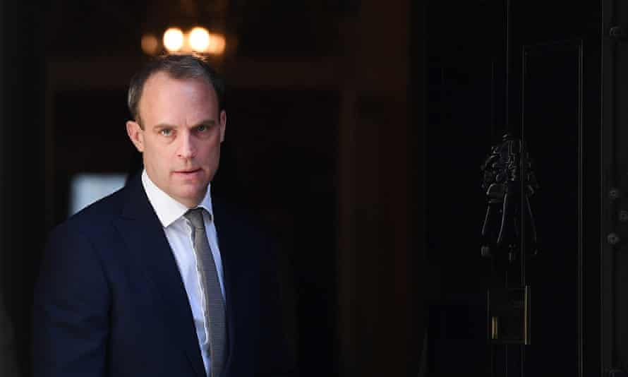 The intervention by Dominic Raab marks an escalation of diplomatic tensions between London and Beijing.