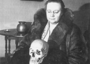 Dorothy L Sayers and Erica, the Detection Club skull.