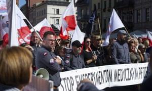 Anti-vax protest in Torun, Poland