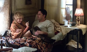 Sienna Miller and Ben Affleck in his 'overstuffed' Live By Night.