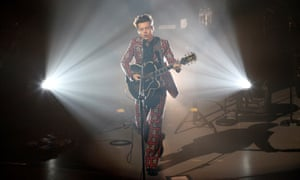 Harry Styles photographed in concert at the SEC Armadillo in Glasgow