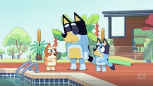 Bluey's dad forgets towels.