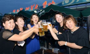 Revellers enjoy the local beers on offer at the event.