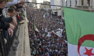 An anti-government march in Algiers on Friday