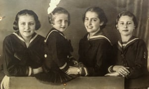 Catalina Adam with her sisters.