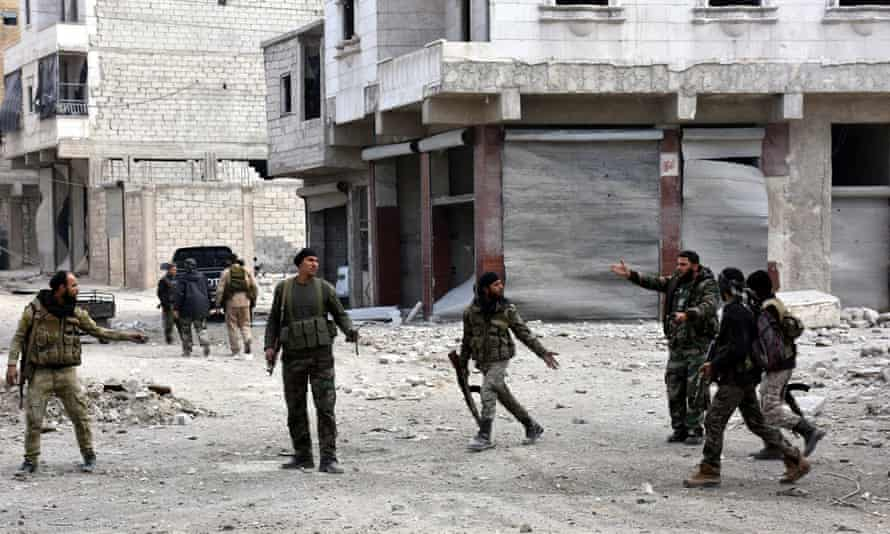 Syrian soldiers in Aleppo