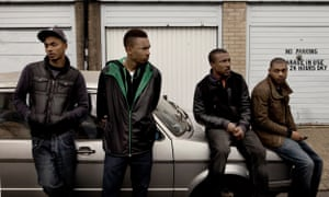 The first series of Top Boy (l-r): Tareek (Sean Sagar), Dris (Shone Romulus), Dushane (Ashley Walters) & Sully (Kane Robinson).