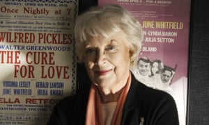 June Whitfield in 2004. Buried deep in the screen image of sensible housewife or mum she possessed a wonderfully wild streak.