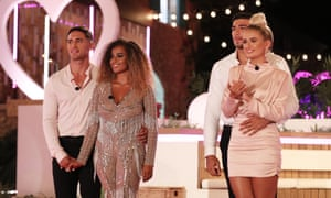 Love Island contestants Greg O'Shea, Amber Gill, Tommy Fury and Molly-Mae Hauge