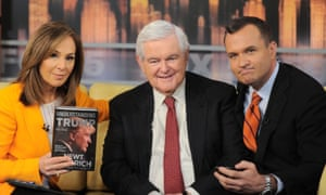 Newt Gingrich appears on Good Day New York to promote his book Understanding Trump on 14 June 2017.