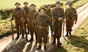 """""""Slapstick and pathos': Toby Jones (centre) has a field day in Dad's Army."""