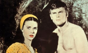 Natalie Wood and Tab Hunter in Burning Hills (1956).