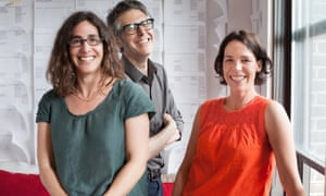 Sarah Koenig (left) and the team behind This American Life.