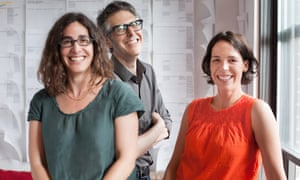 Sarah Koenig, Ira Glass and Julie Snyder of This American Life.